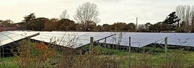 Solar panels in U.K